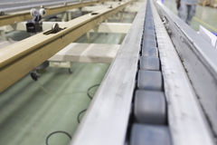 Conveyor chain line belt. Automatic stock photography
