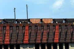 Conveyor and Coal Cars Stock Photos