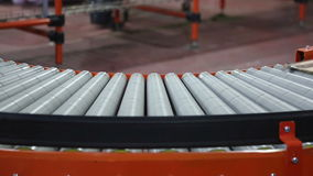 Conveyor Curve stock video footage
