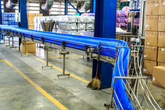 Conveyor gallons lube oil Royalty Free Stock Image