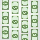 Conveyor green banknotes Stock Photography