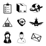 Conveyor icons Stock Photo
