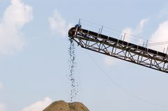 Conveyor In Quarry, Horizontal Stock Photos