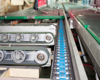 Conveyor line. Assembly chain line royalty free stock images