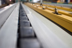 Conveyor line. Assembly chain line royalty free stock image