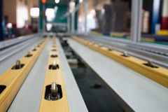Conveyor line. Assembly chain line royalty free stock photos