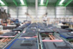 Conveyor line Assembly. TV. blur picture stock photo