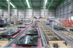 Conveyor line Assembly. TV. blur picture stock photos