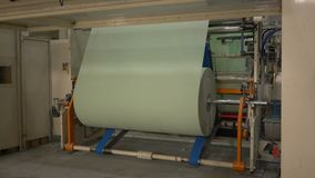 Manufacture of toilet paper and napkins stock video