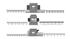 Conveyor with machine royalty free stock photo