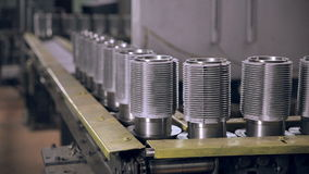 Conveyor with metall billet. Industrial modern factory. stock footage