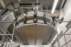 Conveyor and packaging machines. Food industry Stock Photography