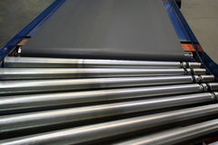 Conveyor Rollers and belt royalty free stock photos