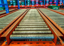 The conveyor rollers Stock Photos