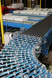 Conveyor rollers line Royalty Free Stock Photo