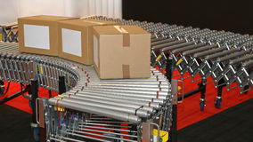 Conveyor Rollers. Powered Conveyor Rollers for Transfer Box in Factory stock photography