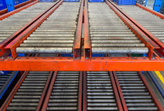 Conveyor rollers transport system Stock Image