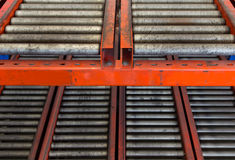 Conveyor rollers transport system Stock Photography