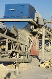 Conveyor sand extraction Royalty Free Stock Images