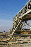 Conveyor sand plant processing Royalty Free Stock Photo