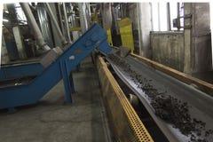 Conveyor scraper slag Stock Images