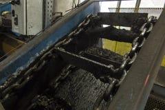 Conveyor scraper slag Royalty Free Stock Images