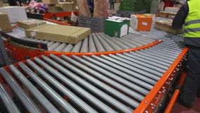 Conveyor Shipping stock video