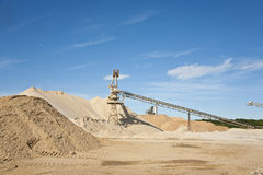 Conveyor on site at gravel pit Stock Image