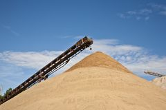 Conveyor on site at gravel pit Royalty Free Stock Photography
