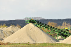Conveyor on site at gravel pit Royalty Free Stock Image