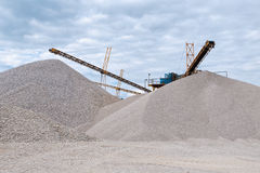 Conveyor on site at gravel pit Stock Photography