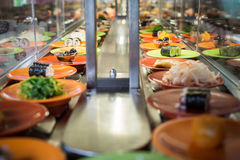 Conveyor sushi belt Stock Photo