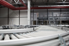 Conveyor System. A conveyor system in a warehouse Royalty Free Stock Image