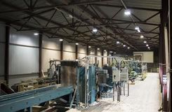 Conveyor System in Sawmill Royalty Free Stock Photography