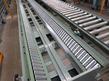 Conveyor for transporting the plant. Royalty Free Stock Photos