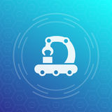 Conveyor vector icon in linear style Royalty Free Stock Photo