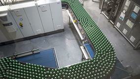Conveyor for water bottling machine stock footage