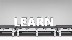 Conveyor with word animation Stock Photo