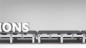 Conveyor with word animation Royalty Free Stock Photo