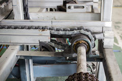 Conveyors drive shaft Stock Photography