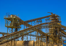 Conveyors At Local Gravel Plant royalty free stock photography