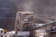 Conveyors at quarry Stock Images