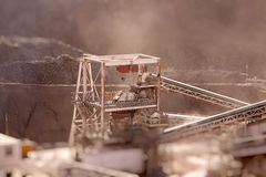 Conveyors at quarry tilt and shift B Stock Photo
