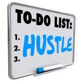 A convicção para fazer a lista faz o dinheiro atuar rapidamente obtém o sucesso dos resultados ilustração royalty free