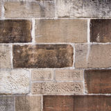Convict built sandstone wall Stock Images