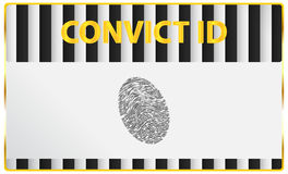Convict Identification Card Fingerprint Royalty Free Stock Images