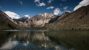 Convict Lake Resort on A Cloudy Day Stock Photography