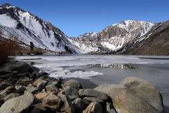 Convict lake in winter Royalty Free Stock Images
