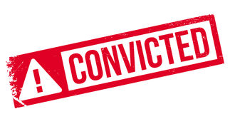Convicted rubber stamp Royalty Free Stock Photos