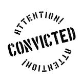 Convicted rubber stamp Stock Photography